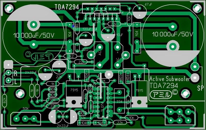 Active subwoofer TDA7294 7