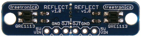 Experimenting with the Freetronics Dual-Channel I/R Reflectance Sensor