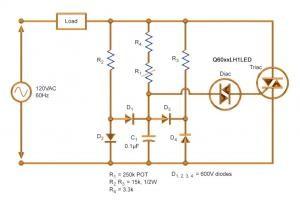 Controlling LED Lighting Using Triacs and Quadracs