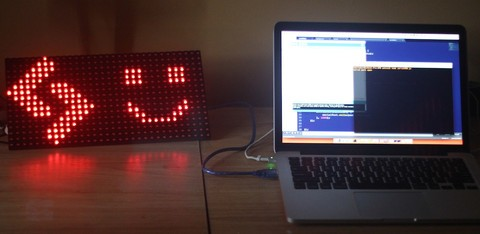 Displaying Images on the Freetronics DMD LED Display with Node.js