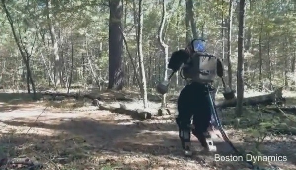 Google's Atlas robot goes on successful walk in the woods