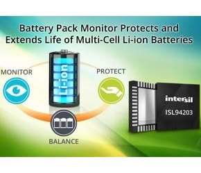 IC monitors multicell battery packs