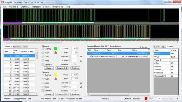 Simple Infrared PWM on Arduino, Part 3 – Hex IR Signals