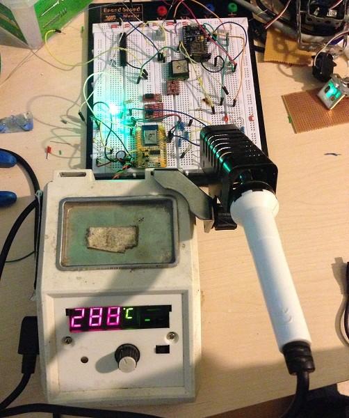 Soldering iron + Nodemcu = IoT device