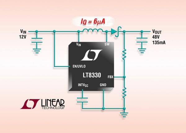 1A, 2 MHz, 60V boost/SEPIC/inverting DC/DC converter, 6µA Iq