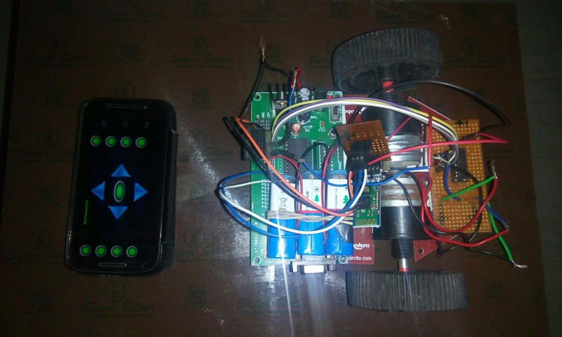 DIY Android controlled robot car