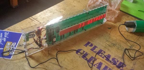 ESP8266 LED display