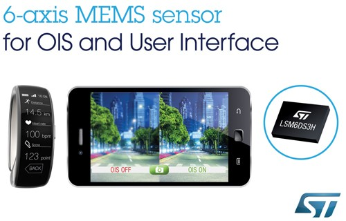 LSM6DS3H – New 6-axis motion sensor from STMicroelectronics