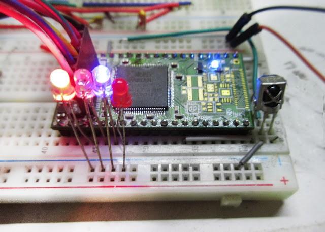 WireFrame FPGA Board : NEC IR Receiver module With VerilogHDL