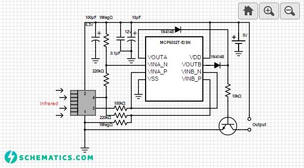 Passive Infrared Detector Circuit