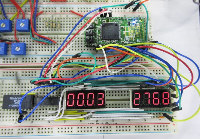 Basic Frequency Meter with FPGA , Verilog HDL , WireFrame FPGA