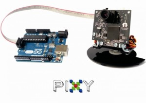 Pixy camera: detect the colour of the objects and track their position