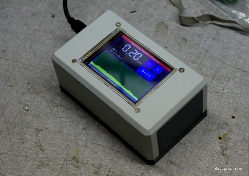 Touchscreen-controlled Arduino Geiger Counter