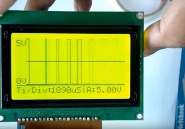 DIY Oscilloscope using Arduino and Graphic LCD