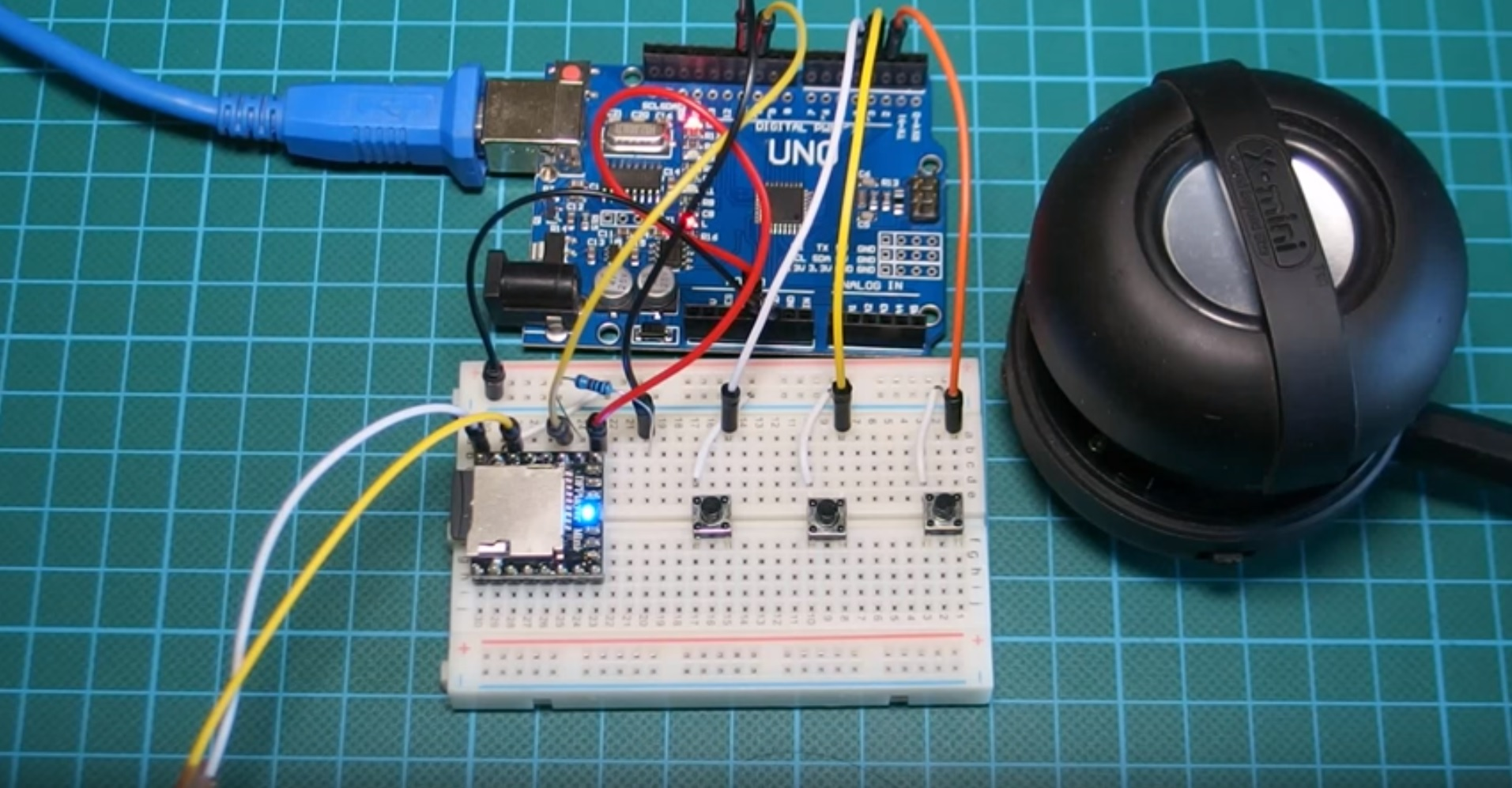 Arduino project mp player using and dfplayer