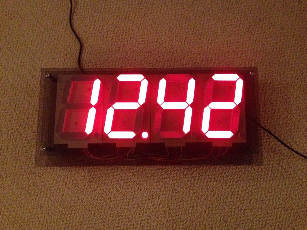Make a huge segment digital clock with arduino