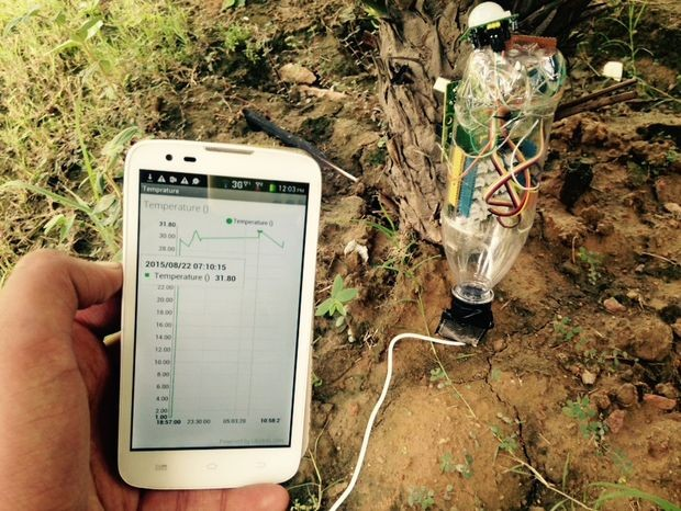 Real Time Monitoring Of Crop Health using Intel Edison
