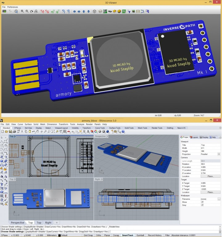 Kicad StepUp – export kicad 3D board