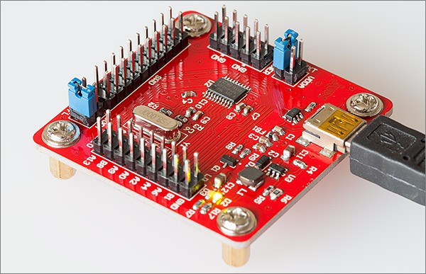 A development board for the STM32F042 TSSOP package