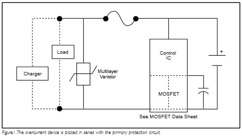 App note: Circuit protection for Lithium-Ion and lithium polymer rechargeable battery applications