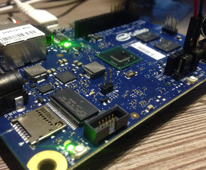 Intel Galileo Board for Measuring Rain and Moist