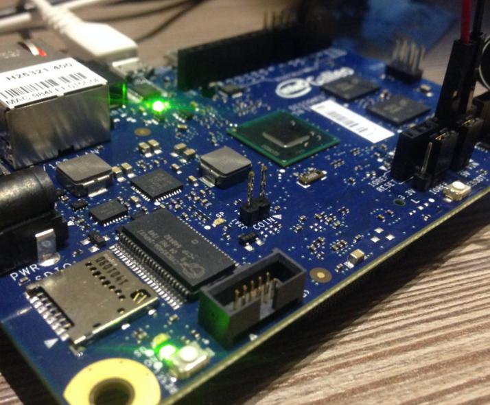 Intel Galileo Board for Measuring Rain and Moist