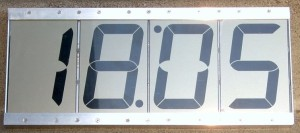 LCD clock with 4″ display