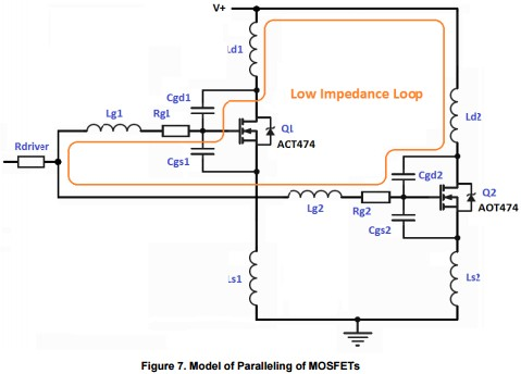 App note: Paralleling power MOSFETs in switching applications