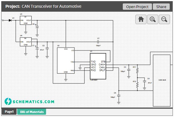 CAN Transceiver for Automotive
