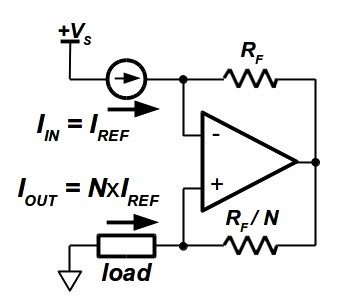 Precision programmable current source uses two ICs