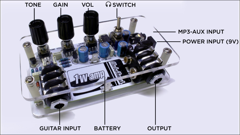 1WAMP, Open Hardware Guitar Amplifier