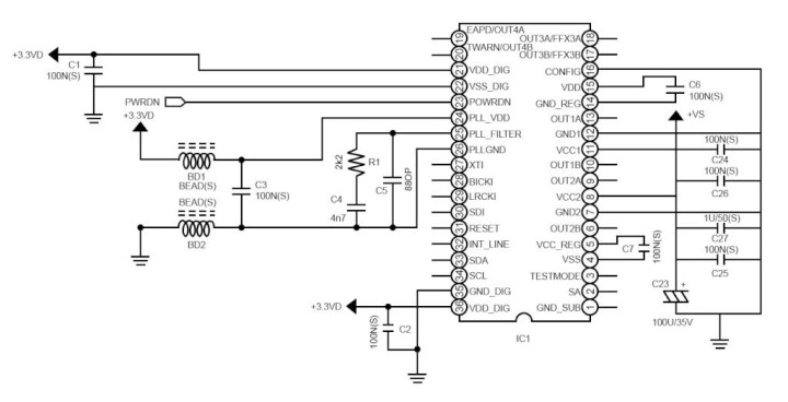 Using Sound Terminal® Sta3xybwz Devices In 2.1-channel Applications