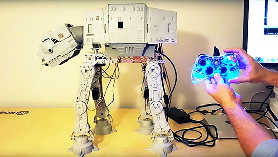 Making a Vintage Star Wars AT-AT toy walk with an Arduino