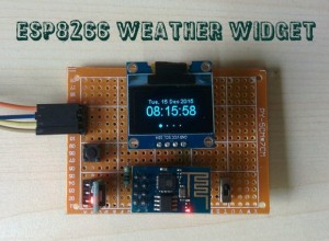 ESP8266 Weather Widget