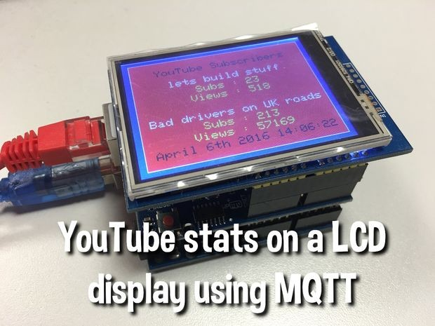 Display YouTube Stats on LCD Screen