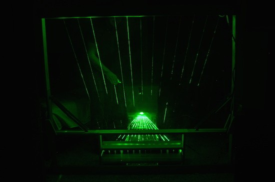 Play some tunes on a 13-note MIDI laser harp