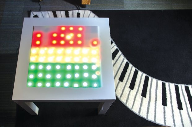 "Hacked IKEA table ""dances"" to your favorite music"