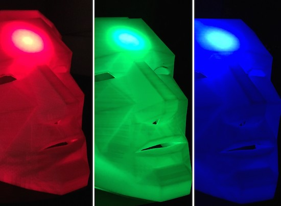 Sci-fi masks glow to reflect Twitter sustainability trends