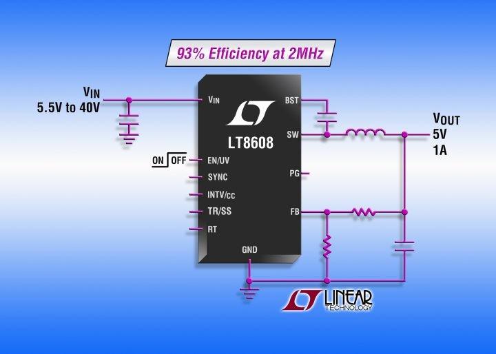 Buck regulator accepts 3.0-V to 42-V input