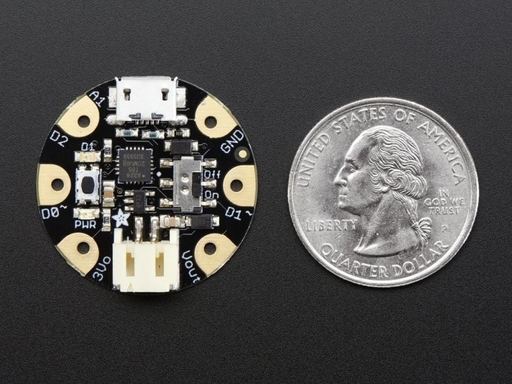 Adafruit GEMMA v2 – Miniature wearable electronic platform
