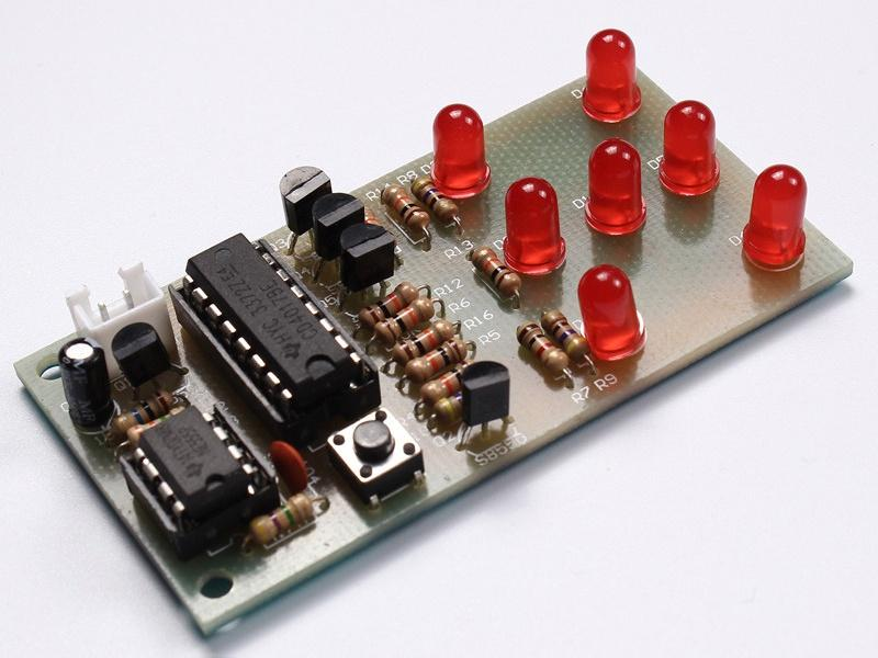 An Electronic Dice using popular NE555 timer and CD4017 Decade Counter
