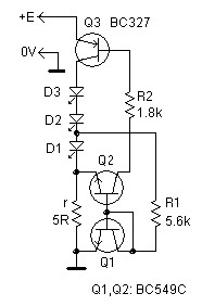 LED current regulator has low dropout
