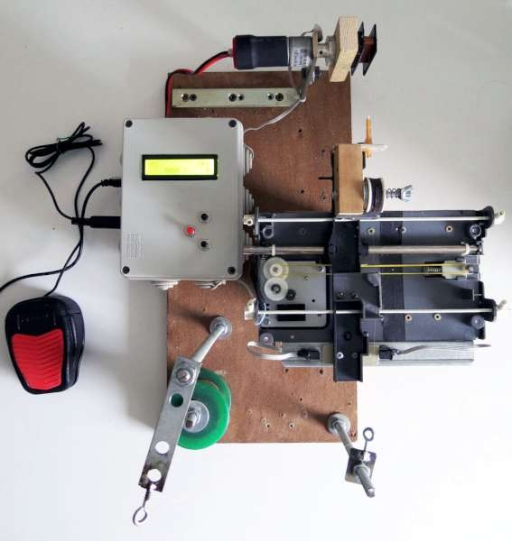 A CNC pickup winding machine built on an ATmega8