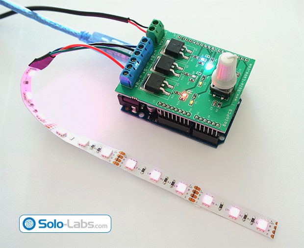 DIY Arduino RGB LED Controller Shield