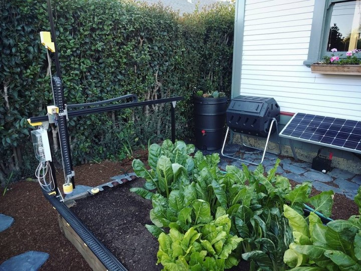 FarmBot is an open-source CNC farming machine