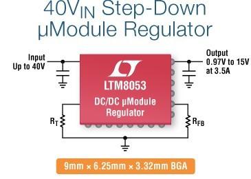 LTM8053 – 40VIN, 3.5A/6A Step-Down μModule Regulator