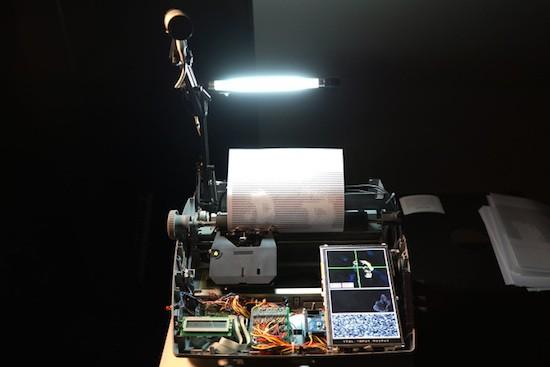 Hacked typewriter prints selfies as ASCII art