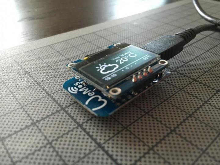 ESP8266-Hack – Piggybacking OLED display on WeMos D1 Mini