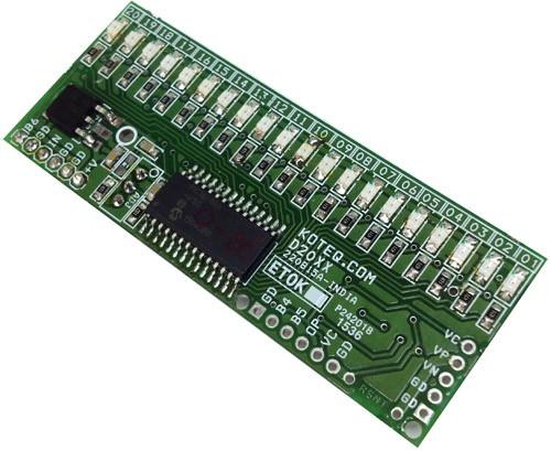 Bargraph Voltmeter 0-5V DC range – PIC16F686