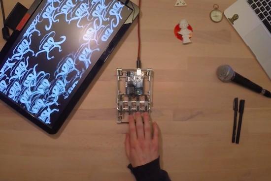 BINARY IO is an Arduino-powered, four-button MIDI controller